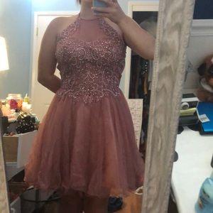 Juniors Pink Party Dress